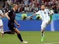 Argentina vs Kroasia Sama Kuat di Babak Pertama
