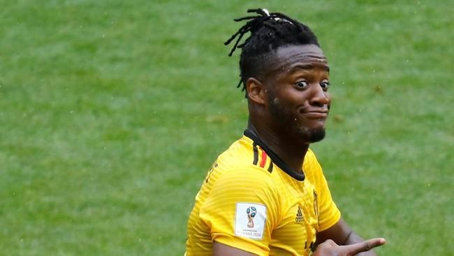 Pertandingan melawan Tunisia adalah adalah pertama kalinya Belgia mencetak lima gol dalam satu pertandingan Piala Dunia 2018.(REUTERS/Kai Pfaffenbach)