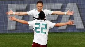 Gol Vela dan Chicharito Bawa Meksiko Kalahkan Korea Selatan