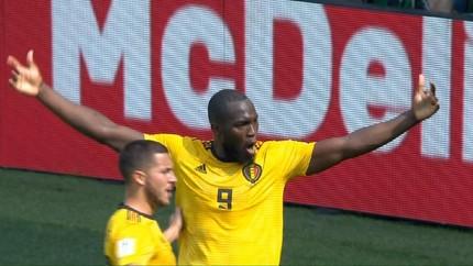 VIDEO: Dua Gol Lukaku Bawa Belgia Ungguli Tunisia di Babak I