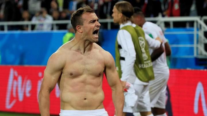 FOTO: Swiss Habisi Serbia Melalui Gol Menit-menit Akhir