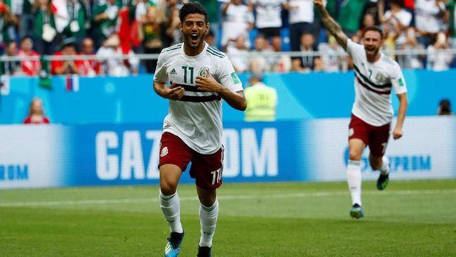 Meksiko Unggul 1-0 atas Korea Selatan di Babak Pertama