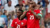 Baloy pun menangis merakayan gol tersebut. Ia tercatat menjadi pencetak gol Panama di sepanjang sejarah Piala Dunia. (REUTERS/Murad Sezer)