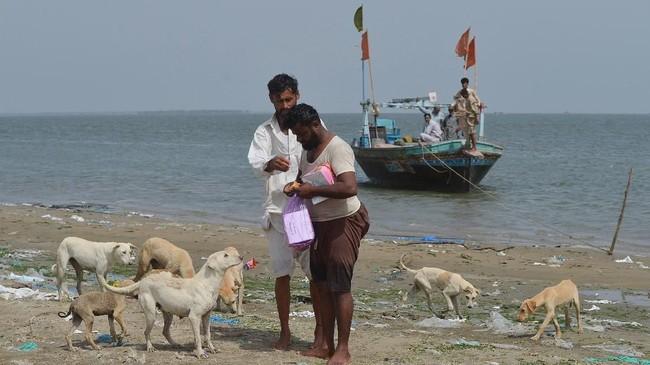 Kasih Sayang Nelayan di 'Pulau Anjing' Pakistan