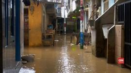 VIDEO: Sungai Ciliwung Meluap, Jatinegara Kebanjiran
