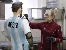 Dibuat 1 Minggu, Ini Bentuk Patung Coklat Messi di Rusia