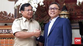 Zulhas, AHY dan Aher Jadi Kandidat Ketua Timses Prabowo-Sandi