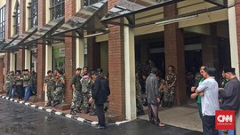 Banser Berjaga di Kantor PBNU Tunggu Demo Terkait Gus Yahya