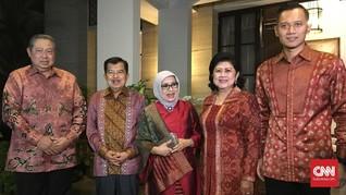 Berbatik Merah, JK 'Reuni' ke Rumah SBY