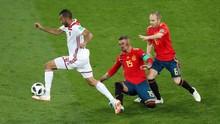 Timnas Spanyol vs Maroko Imbang di Babak Pertama
