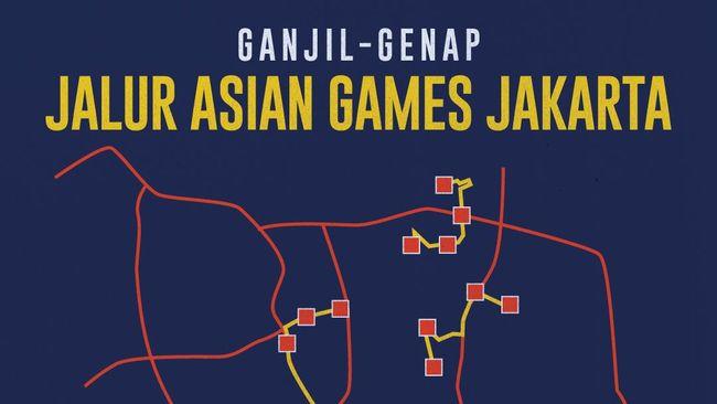 Ganjil Genap Jalur Asian Games Jakarta