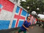 Demam Bola, Kampung Ini Disulap Jadi Kampung Piala Dunia