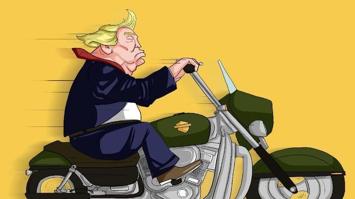 Harley-Davidson, Simbol AS yang Jadi Korban Perang Dagang