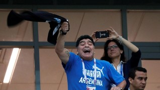Putri Maradona Bantah Sang Ayah Sakit Keras