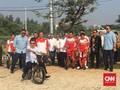 JK Kesulitan Jajal Sepeda BMX di Venue Asian Games