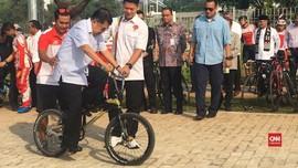 VIDEO: Gaya Wapres JK Tunggangi BMX di Venue Asian Games