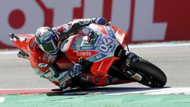 FP I MotoGP Aragon: Dovizioso Tercepat, Ducati Mendominasi