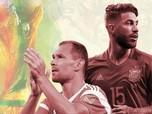 Ini Statistik Pertemuan Spanyol vs Rusia