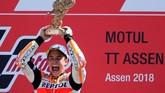 Kemenangan Marc Marquez di MotoGP Belanda adalah kemenangan keempat untuknya musim ini. (REUTERS/Yves Herman)