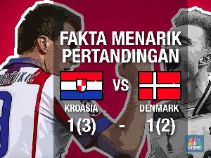 Drama Adu Penalti Lawan Denmark, Kroasia Lolos Perempat Final
