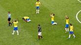 Timnas Brasil merupakan salah satu dari sejumlah tim besar yang mampu bertahan hingga babak perempat final Piala Dunia 2018. (REUTERS/David Gray)