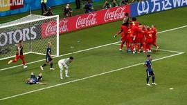 FOTO: Belgia Raih Tiket Perempat Final Piala Dunia 2018