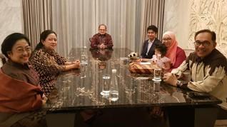 Ke Jakarta, Anwar Ibrahim Makan Malam dengan Megawati