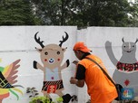 Tembok Polos Juga Jadi Sarana Promosi Asian Games 2018