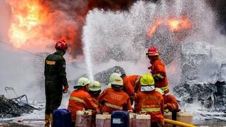 Bus Terbakar di Apron Bandara Ngurah Rai