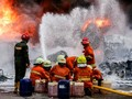 Budi Karya Pantau Lokasi Kebakaran Gedung Kemenhub