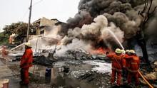 Pemadam Tewas Jinakkan Api di Sunter, Keluarga Dapat Santunan
