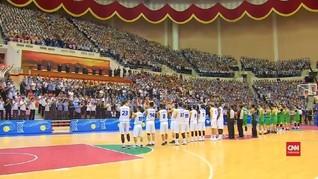 VIDEO: Pertama, Laga Basket Persahabatan Korut-Korsel