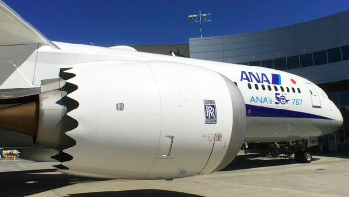 Mesin Rolls Royce Trent 1000 yang terdampak itu digunakan di pesawat Boeing 787 Dreamliner milik maskapai Jepang ANA.