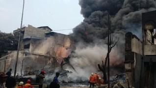 Kebakaran Gudang di Kampung Bandan, Lalu Lintas Macet Total