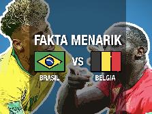 Fakta Menarik Jelang Brasil vs Belgia di Babak Delapan Besar