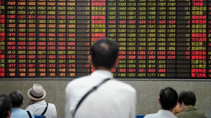 Bursa saham China dan Hong Kong ditransaksikan melemah pada perdagangan hari ini.