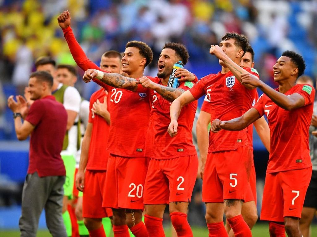 Di semi final Inggris akan menghadapi pemenang antara Rusia Vs Kroasia. REUTERS/Dylan Martinez