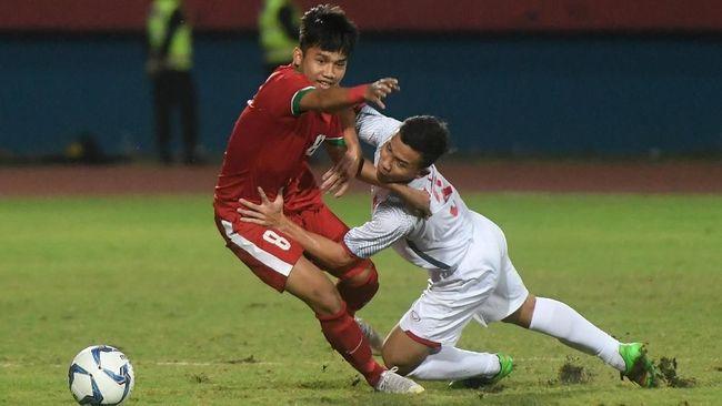 Babak Pertama, Timnas Indonesia U-19 Unggul 1-0 atas Thailand