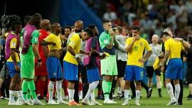 Gagal di Piala Dunia 2018, Timnas Brasil Dilempari Batu