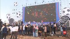 VIDEO: Keseruan Nobar Piala Dunia di Layar Raksasa