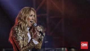 Gimik Menyempurnakan Penampilan Elegan Celine Dion di Jakarta