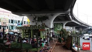 FOTO: Geliat Taman Baca Kolong Jembatan Ciputat