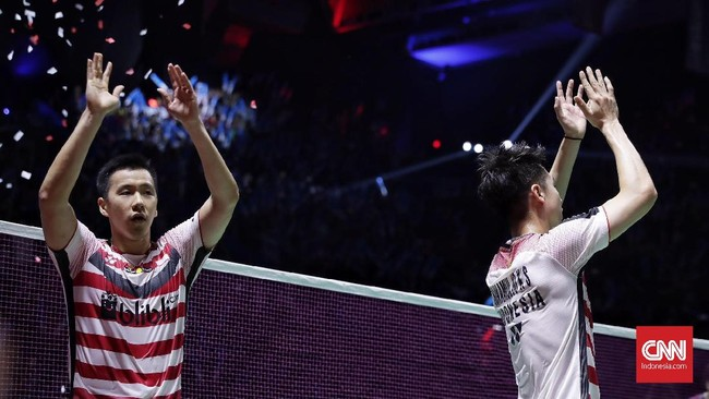 Setelah momen ini, Kevin Sanjaya/Marcus Fernaldi Gideon akan mengalihkan fokus mereka ke Kejuaraan Dunia 2018 dan Asian Games 2018. Kevin/Marcus juga dipatok target juara di ajang tersebut.(CNN Indonesia/Hesti Rika)