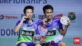 Setelah menang di Indonesia Open, Tontowi Ahmad/Liliyana Natsir kini akan fokus menghadapi Asian Games yang bakal berlangsung bulan depan. (CNN Indonesia/Hesti Rika)