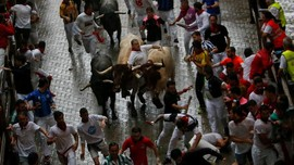 Festival Balap Lari Banteng di Spanyol 'Makan' Korban