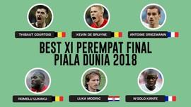 INFOGRAFIS: Tim Terbaik Perempat Final Piala Dunia 2018