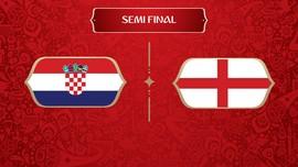 LIVE: Kroasia vs Inggris di Semifinal Piala Dunia 2018