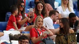 FOTO: Parade WAGs Saat Inggris Kalahkan Swedia di Piala Dunia