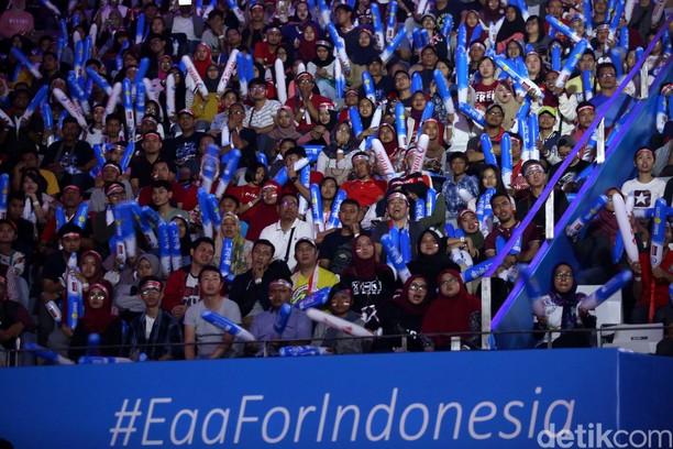 Riuhnya Istora di Final Indonesia Open 2018