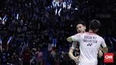 Gelar Indonesia Open 2018 adalah gelar perdana di turnamen tersebut bagi Kevin/Marcus. Tahun lalu mereka kalah di babak pertama.(CNN Indonesia/Hesti Rika)